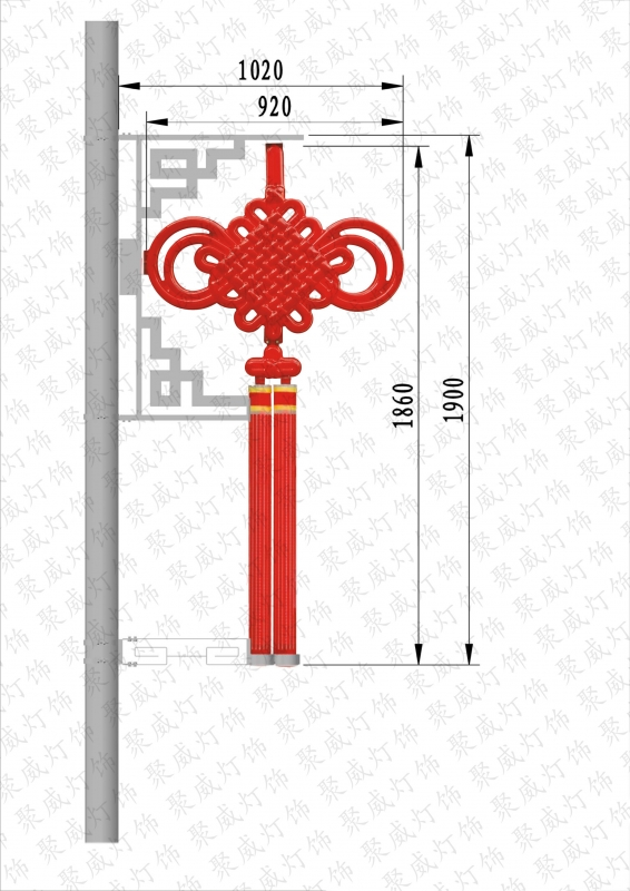 Led chinese knot